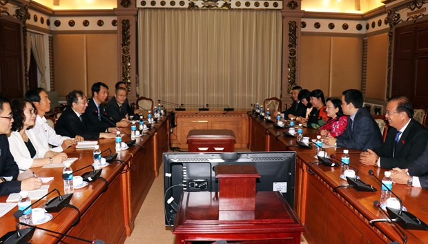 胡志明市与中国上海市加强人民代表工作交流 hinh anh 1