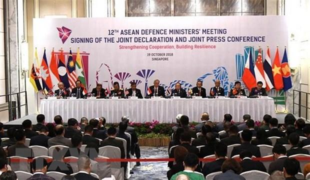 第五届东盟防长扩大会议发表联合声明 hinh anh 1