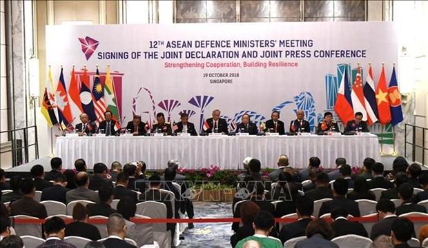 越南在东盟国防部长会议上提出许多倡议 hinh anh 1