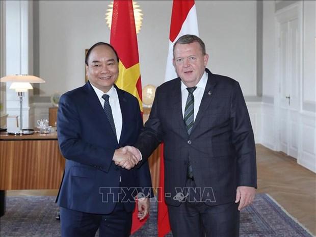 越南与丹麦两国总理举行会谈 hinh anh 1