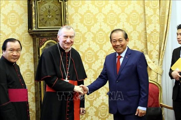 越南政府常务副总理张和平访问梵蒂冈 hinh anh 2