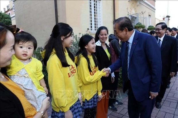 越南政府常务副总理张和平访问梵蒂冈 hinh anh 3