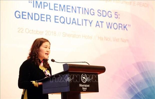 东盟与欧盟性别平等和赋予妇女和女童权力对话会在河内举行 hinh anh 2