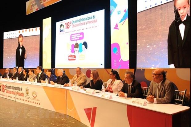 越南参加在墨西哥举行的第18届学前教育国际研讨会 hinh anh 1