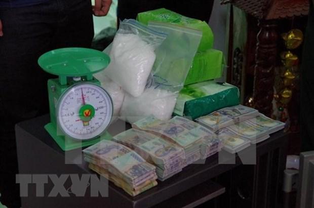 西宁省边防部队摧毁从柬埔寨非法运输毒品进入越南境内的犯罪团伙 缴获毒品12公斤 hinh anh 1