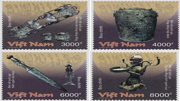 越南青铜器国宝邮票集正式发行 hinh anh 1