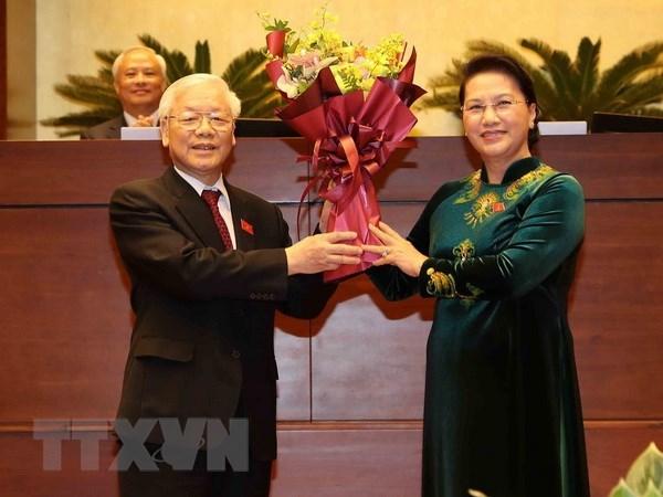 各国领导人向越共中央总书记、国家主席阮富仲致贺电 hinh anh 1