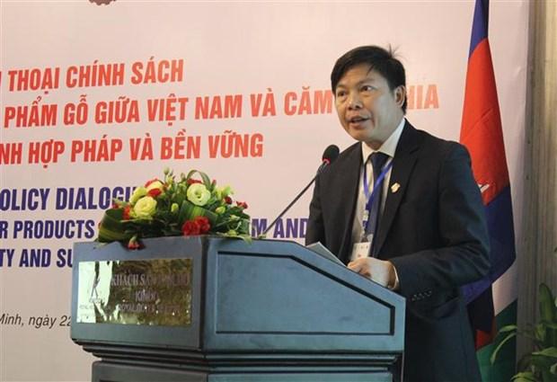 越南与柬埔寨就木材贸易政策进行对话 hinh anh 1