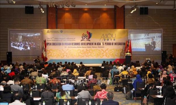 2018年亚洲开放大学协会年会今日在河内召开 hinh anh 1