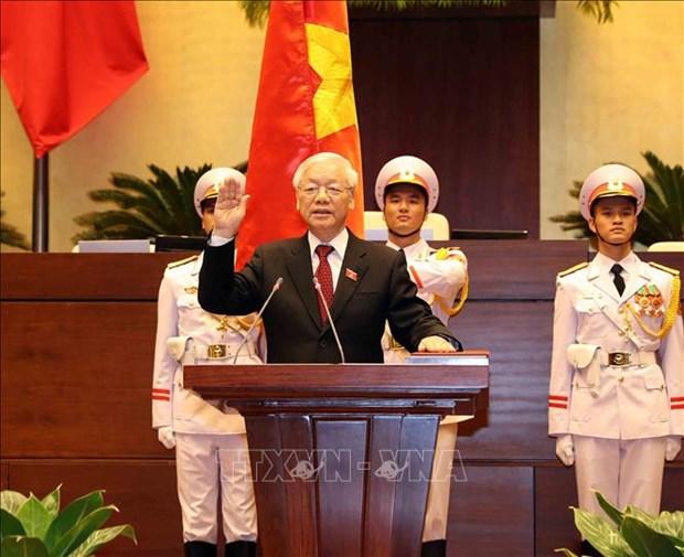 世界各国领导人向当选越南国家主席的阮富仲总书记致贺电 hinh anh 1