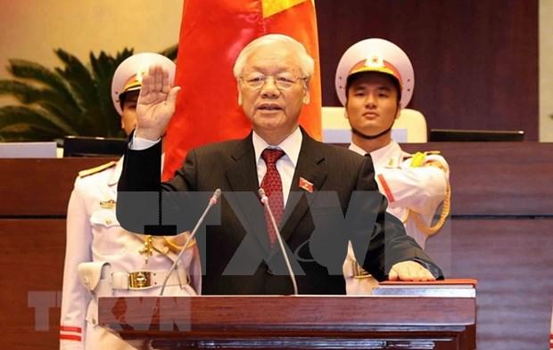 印度总统和印度共产党致电祝贺阮富仲总书记当选国家主席 hinh anh 1