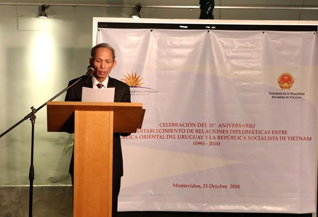 越南与乌拉圭建交25周年纪念典礼在乌拉圭举行 hinh anh 2