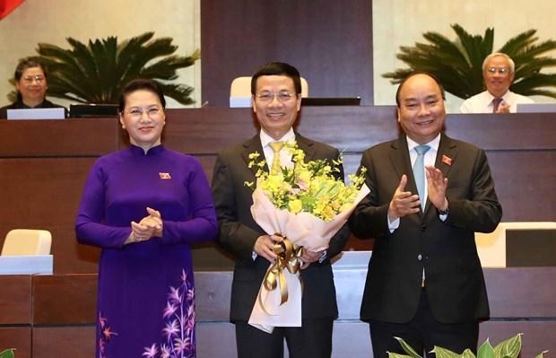 第十四届国会第六次会议通过关于批准任命阮孟雄为信息传媒部部长的决议 hinh anh 1