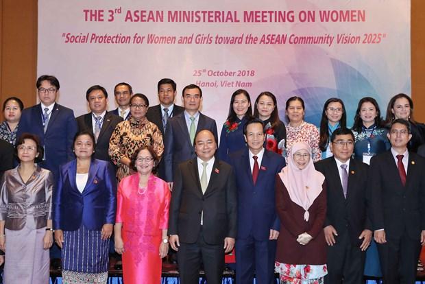 政府总理阮春福出席第三届东盟妇女工作部长会议 hinh anh 1