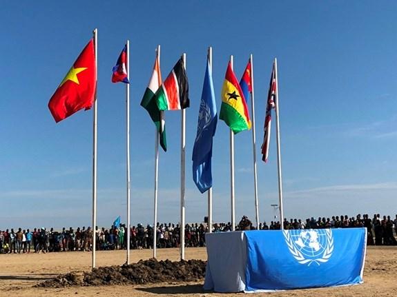 越南野战医院参加在南苏丹举行的联合国日庆祝活动 hinh anh 3