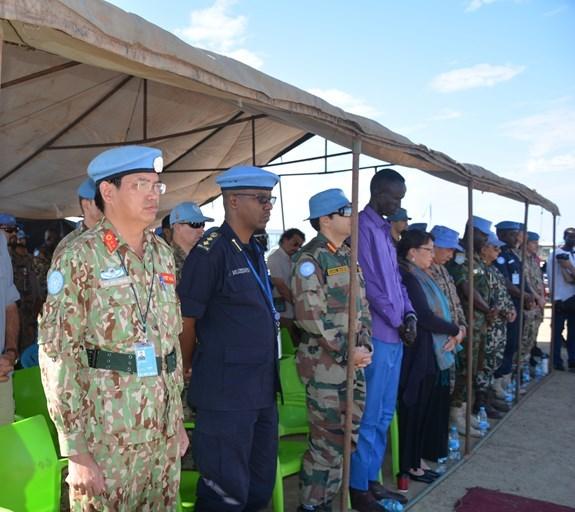 越南野战医院参加在南苏丹举行的联合国日庆祝活动 hinh anh 2