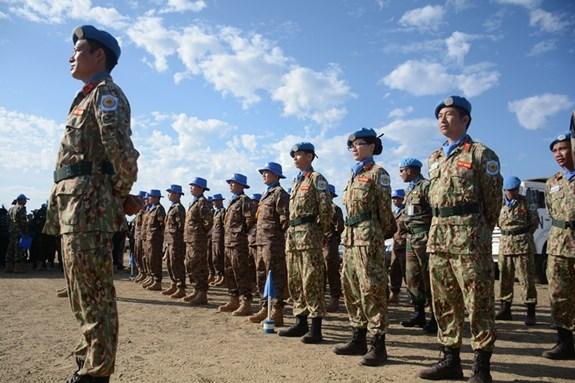越南野战医院参加在南苏丹举行的联合国日庆祝活动 hinh anh 1
