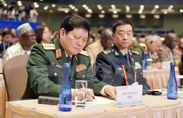 越南国防部部长吴春历大将出席第八届北京香山论坛开幕式 hinh anh 1