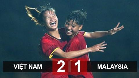 2019年亚洲U19女足预选赛第一阶段:越南队2比1逆转战胜马来西亚队 hinh anh 1