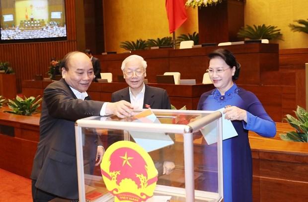 越南第十四届国会第六次会议: 国会进行信任投票并讨论两部法案 hinh anh 1