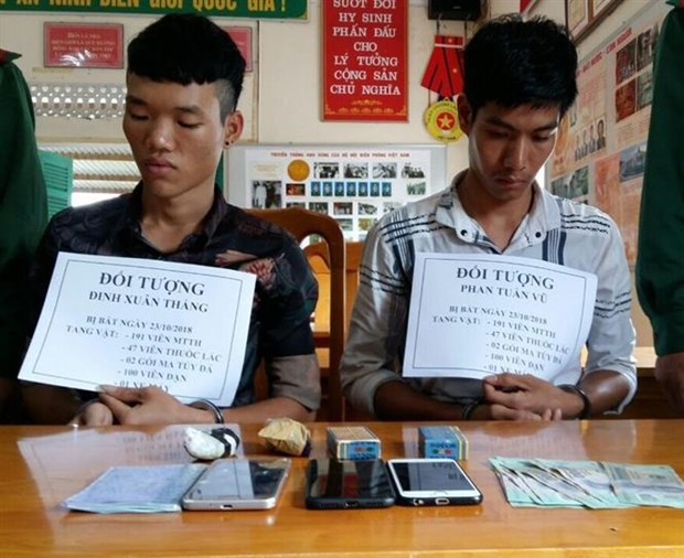 广平省抓获跨境运输毒品的两名嫌疑人 hinh anh 1