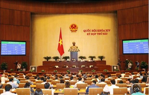 越南第十四届国会第六次会议26日讨论经济社会问题 hinh anh 1