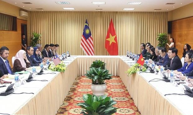 越南政府副总理范平明与马来西亚副总理旺·阿兹莎举行会谈 hinh anh 1