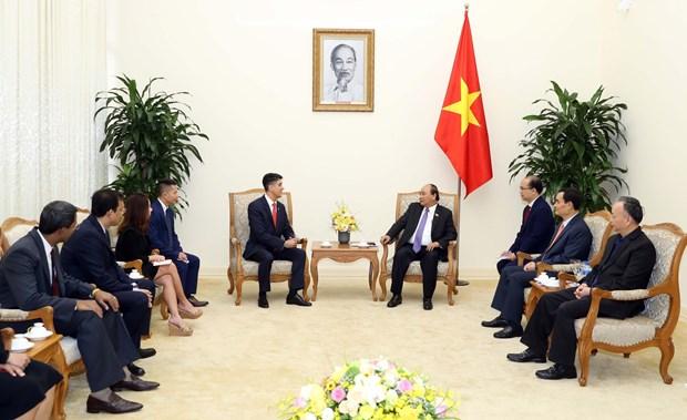 越南政府总理阮春福会见可口可乐集团总裁 hinh anh 1