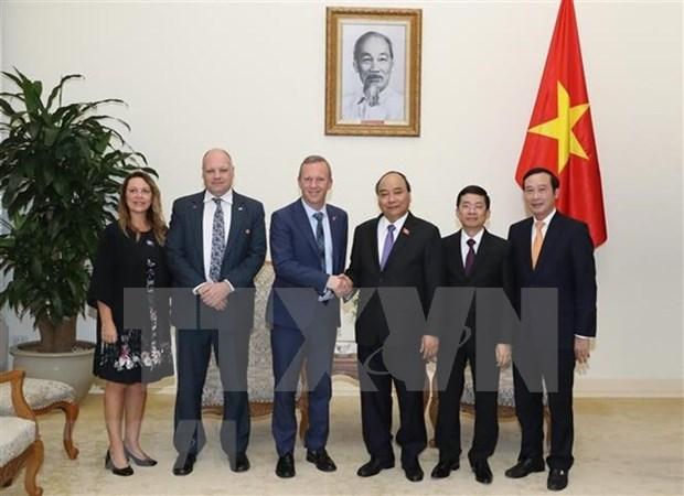 阮春福总理会见英国新任驻越大使加雷思·瓦德 hinh anh 2