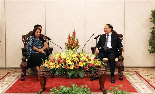 胡志明市领导人会见古巴全国妇女联合会秘书长 hinh anh 1