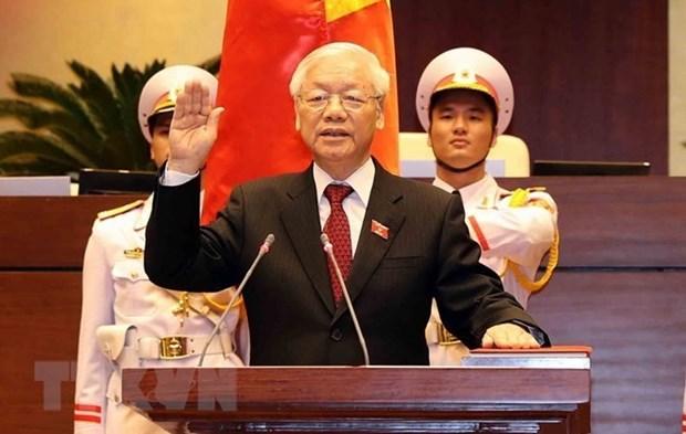 世界多国领导继续向越共中央总书记、国家主席阮富仲致贺电 hinh anh 1