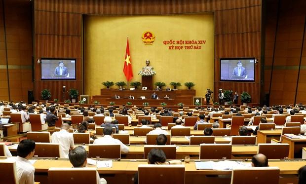 越南第十四届国会第六次会议对任期初至今任务执行情况进行质询 hinh anh 1