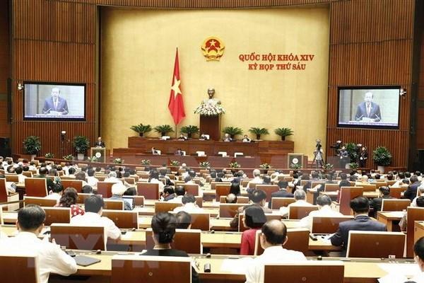越南第十四届国会第六次会议开始对受质询机关负责人进行质询 hinh anh 1