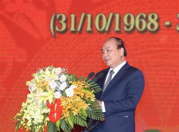 阮春福总理出席桩盆大捷50周年纪念典礼 hinh anh 2