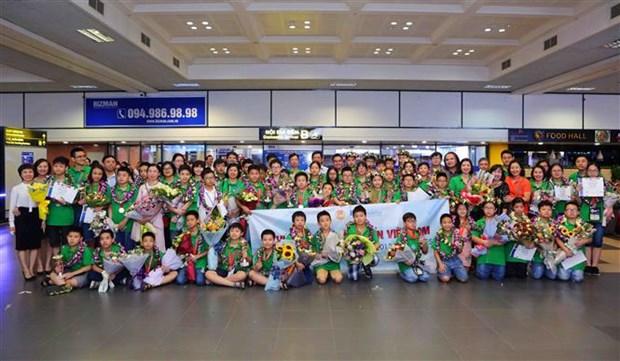 河内市7名学生在2018年未来数学家挑战赛荣获金牌 hinh anh 1
