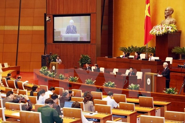 越南十四届国会第六次会议:提高越南在国际和地区舞台上的地位 hinh anh 1
