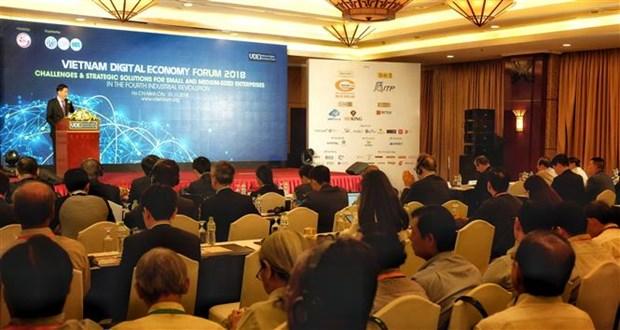 2018年越南数字经济论坛在胡志明市举行 hinh anh 1
