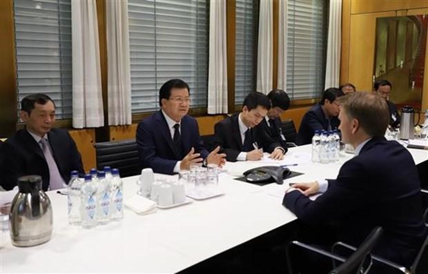 越南政府副总理郑廷勇访问挪威 hinh anh 1