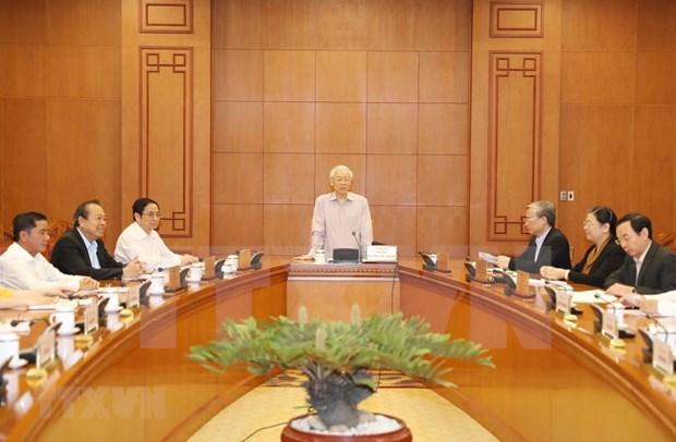 阮富仲:战略级干部队伍建设规划制定工作需谨慎、民主和公开 hinh anh 2