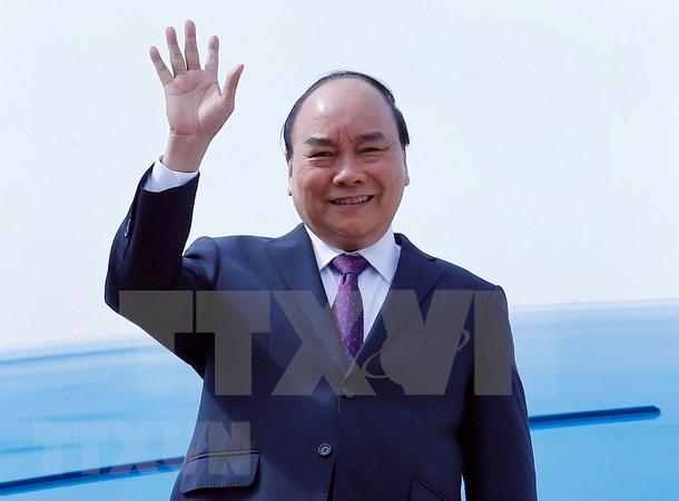 越南政府总理阮春福抵达上海 开始出席中国国际进口博览会之行 hinh anh 1