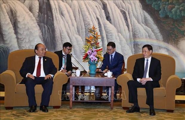 越南政府总理阮春福会见上海市市长 hinh anh 1