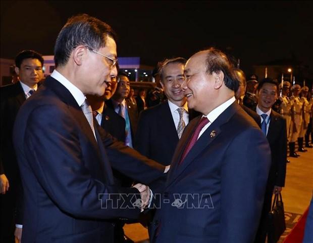 越南政府总理阮春福圆满结束出席首届中国国际进口博览会之行 hinh anh 1