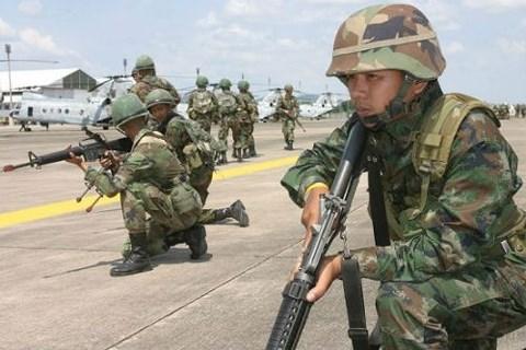 泰国军事演习发生事故 致1亡 7伤 hinh anh 1