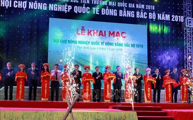 300多家企业参加2018年太平省北部三角洲国际农业展览会 hinh anh 1