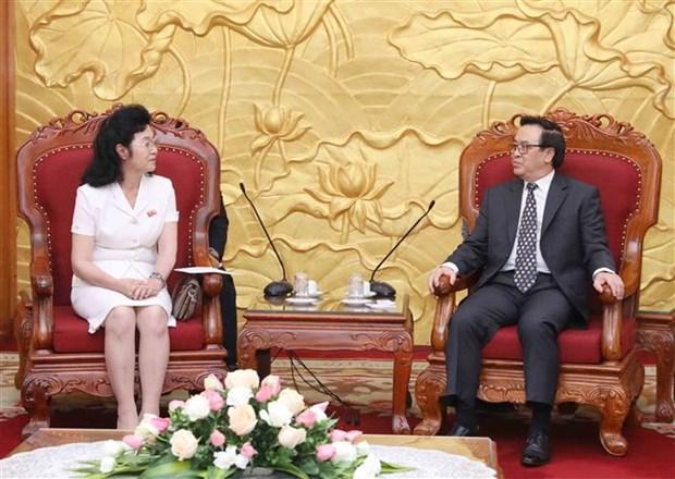 越共中央对外部部长黄平君会见朝鲜社会主义妇女同盟代表团 hinh anh 1