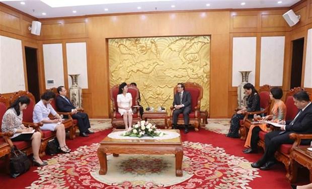越共中央对外部部长黄平君会见朝鲜社会主义妇女同盟代表团 hinh anh 2
