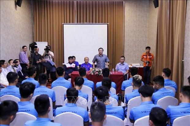2018年铃木杯东南亚足球锦标赛:越南驻老挝大使给越南球队打气助威 hinh anh 1