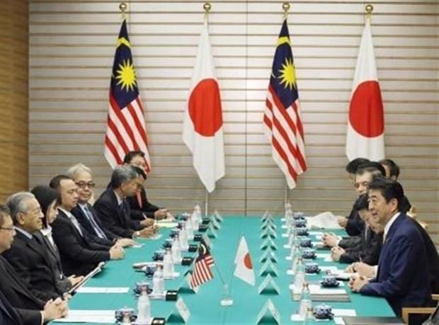 日本首相与马来西亚总理会谈 hinh anh 2