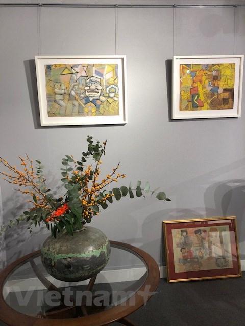 画家阮私严和裴春派作品展会在伦敦举行 hinh anh 2