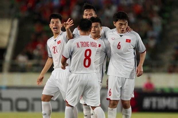 AFF Suzuki Cup 2018:越南队以3比0战胜老挝队 取得开门红 hinh anh 1